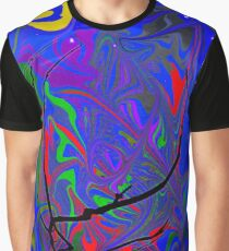 Psychedelic Tree and Moon at Night Graphic T-Shirt