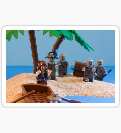 Lego Captain Jack Sparrow and the wrong zombies Sticker