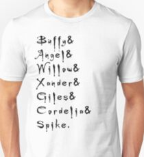 Buffy, willow, xander Unisex T-Shirt