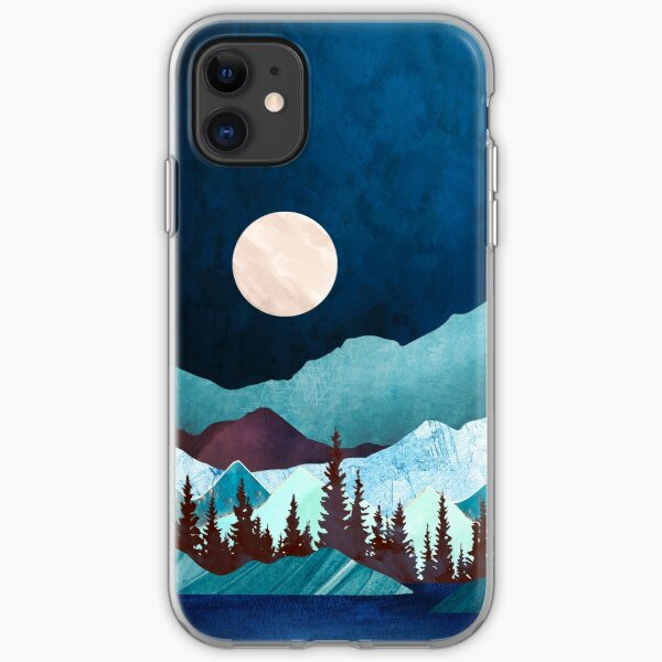 Emerald forest. Seamless pattern with trees iPhone 11 case