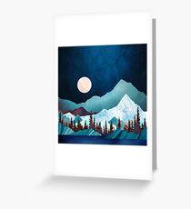 Mondbucht Grußkarte