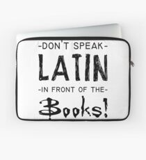 latin and books Laptop Sleeve