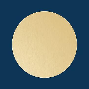 Blue on gold polka dots by o2creativeNY
