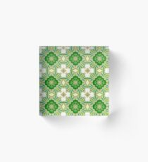plant good luck conventional seamless colorful repeat pattern Acrylic Block
