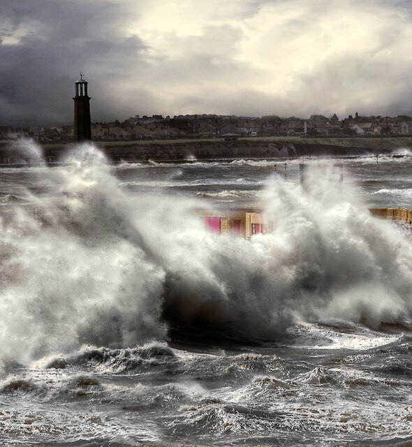 Storm, Margate pier by Anna Shaw