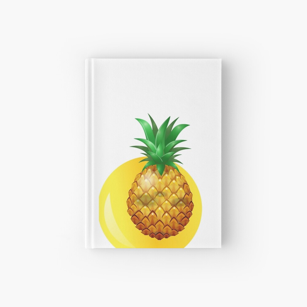 piña fondo amarillo Hardcover Journal