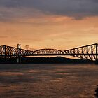 3 in 1 _ Quebec bridge, Pierre Laporte bridge & the Grids by Poete100