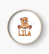 Lila Bear Mug Clock