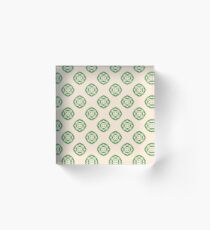 happy new year chiku good luck plant seamless colorful repeat pattern Acrylic Block
