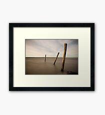 poles in time Framed Print