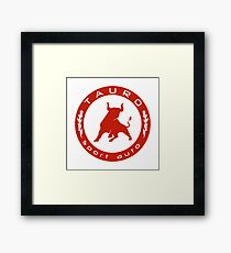 Tauro Sport Auto RED SPECKLED Framed Print