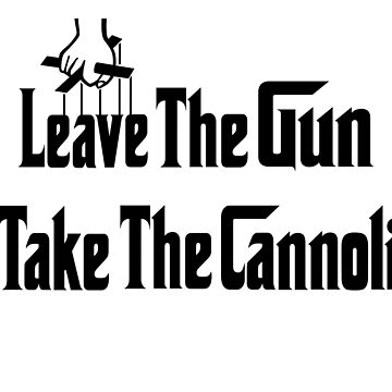 Leave The Gun Take The Cannoli iPad Case by Lallinda