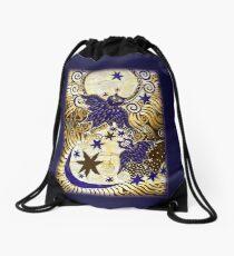 Owl Sun Moon Drawstring Bag