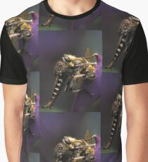 Robber Fly Preys on Honey Bee Graphic T-Shirt