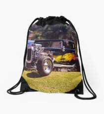 The King of the Hill hot rod Drawstring Bag