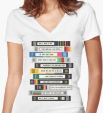 Brooklyn Nine-Nine Sex Tapes Women's Fitted V-Neck T-Shirt