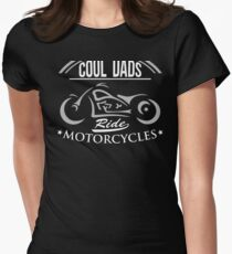 Cool Dads Ride motorcycles Biker Fathers Day (2) Women's Fitted T-Shirt