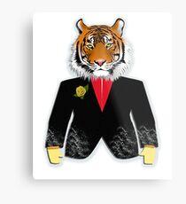 The Tiger in elegant suit  Desing of Tiger Metal Print