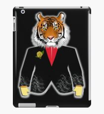 The Tiger in elegant suit  Desing of Tiger iPad Case/Skin