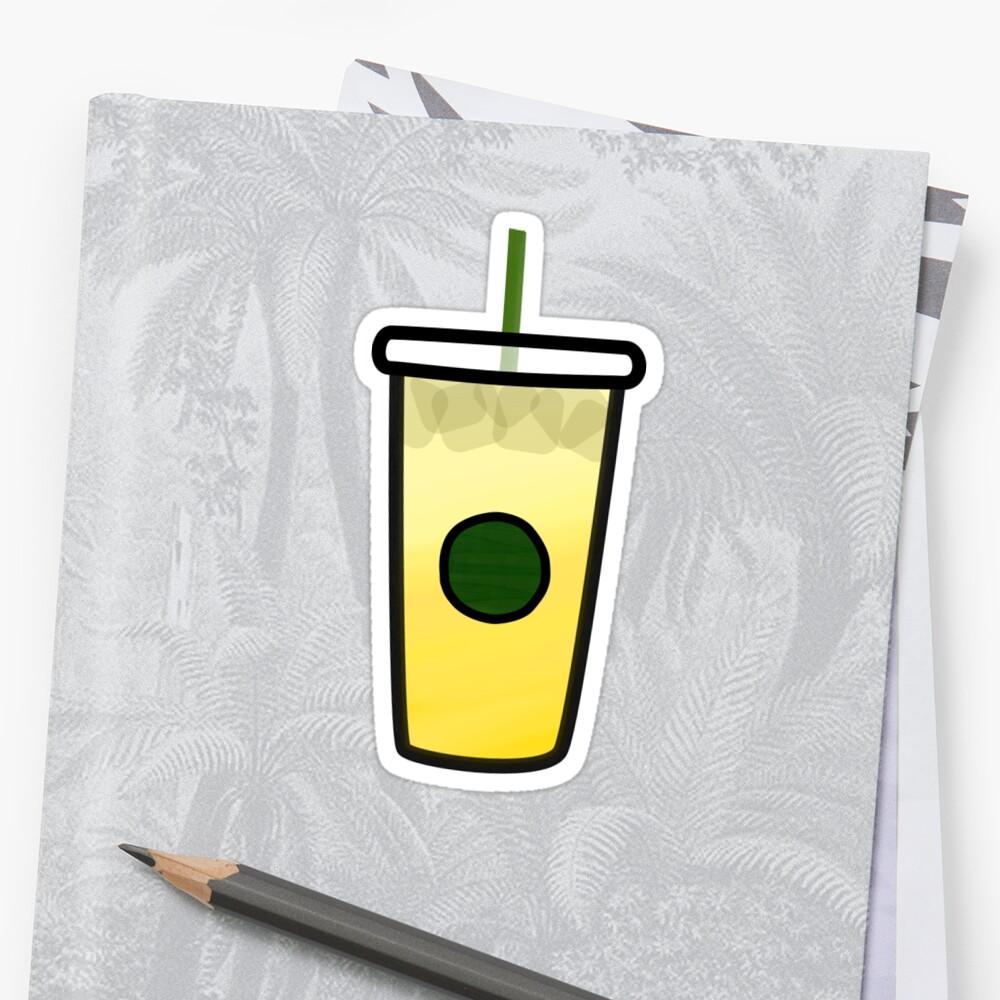 Starbucks - Limonada Helada Pegatina
