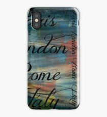 Paris London Tie Dye print  iPhone Case