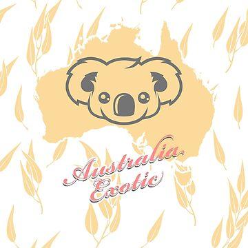 Koala Bear - Australia Exotic Cute Animal by lu2k