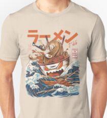 Camiseta ajustada El Gran Ramen frente a Kanagawa