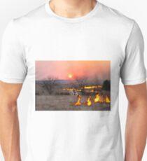 Kansas Rancher Checks Fire Line T-Shirt