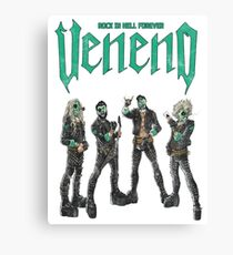 Veneno Merch - Rock in Hell Forever Canvas Print
