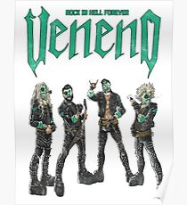 Veneno Merch - Rock in Hell Forever Poster
