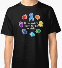Child Abuse Prevention Awareness Blue Ribbon Classic T-Shirt