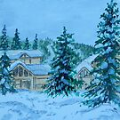 Canadian Snow Scene 2 by Karen Scott