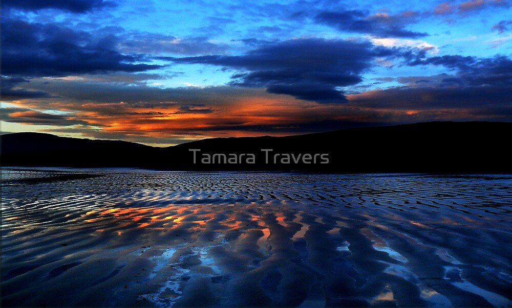 Coastal sunset by Tamara Travers