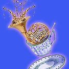 French Horn Splash Teacup- Drink up and Play! by MissMusica