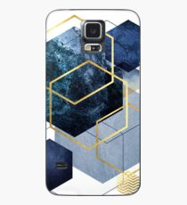 Navy and Gold Geo Case/Skin for Samsung Galaxy