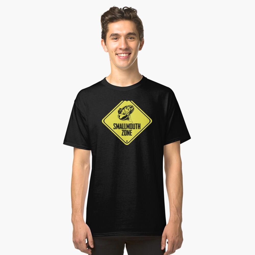 Smallmouth Fishing Zone Danger Sign Fishing Zone Classic T-Shirt Front
