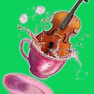 Cello Splash Teacup- Drink up and Play! by MissMusica