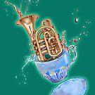 Trumpet Splash Teacup- Drink up and Play! by MissMusica