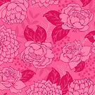 Magenta Floral Pattern by latheandquill