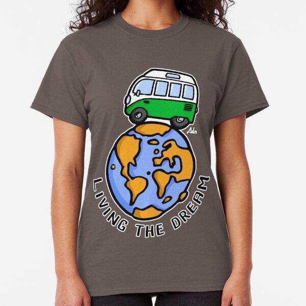 Camper furgonetas azul vestido