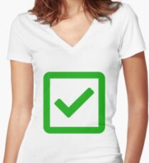 check-square Women's Fitted V-Neck T-Shirt