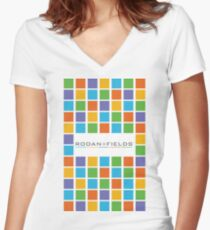 Rodan and Fields Blocks Women's Fitted V-Neck T-Shirt