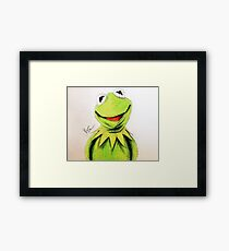 Kermit the Frog- Colored Pencil Framed Print