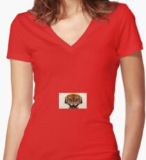 El Tigre Women's Fitted V-Neck T-Shirt