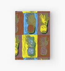 POP ART PINEAPPLES   FENCE ART-BY JANE HOLLOWAY Hardcover Journal