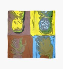 POP ART PINEAPPLES | FENCE ART-BY JANE HOLLOWAY Scarf