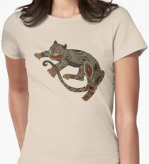 Prowling Cat Tee Womens Fitted T-Shirt