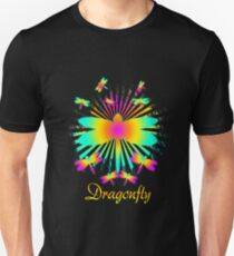 Cute Unique Rainbow Trendy Dragonfly Gift  Unisex T-Shirt
