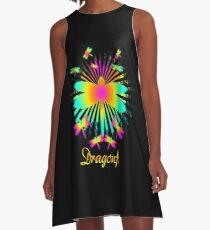 Cute Unique Rainbow Trendy Dragonfly Gift  A-Line Dress