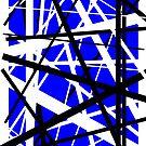 Frankenstein-Muster (blau) von Anthony Segrist